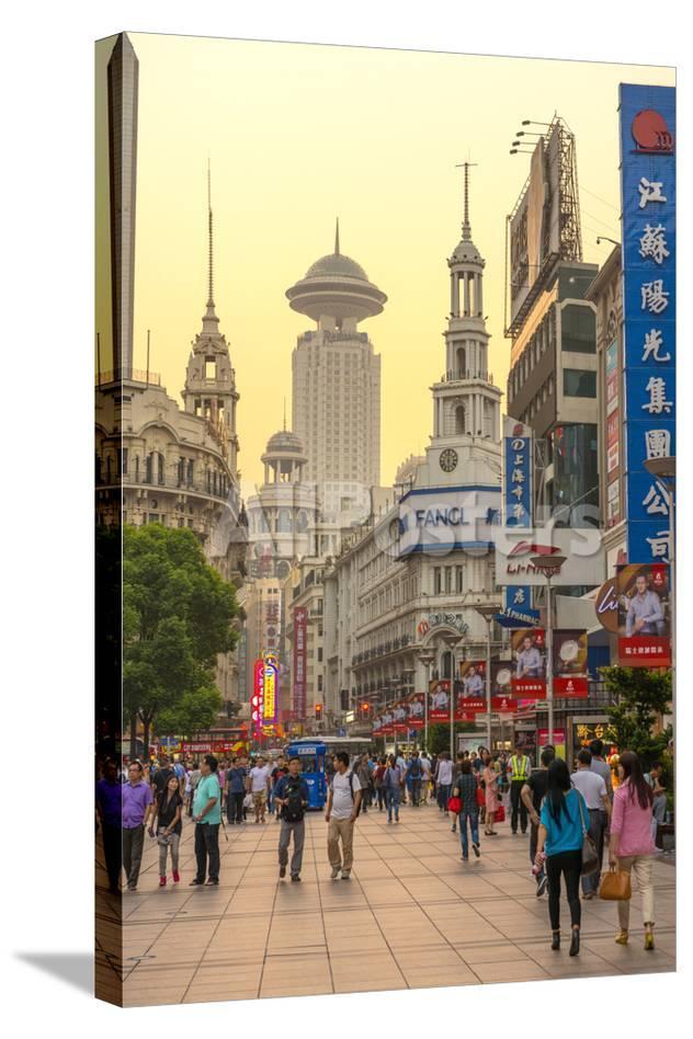 China Shanghai Huangpu District East Nanjing Road Photographic