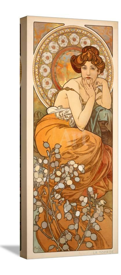 The Precious Stones Topaz 1900 Giclee Print By Alphonse Mucha At Allposters