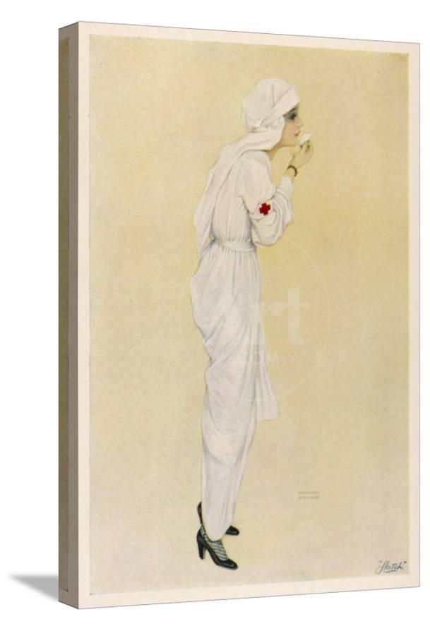 3190961c6 An Elegant Young Woman in Nurse s Uniform