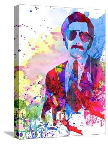 Anchorman Watercolor Stretched Canvas Print