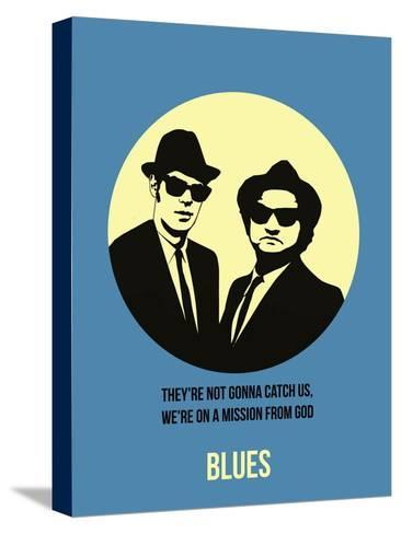 Blues Poster 2 Stretched Canvas Print