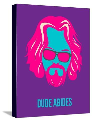 Dude Abides Purple Poster Stretched Canvas Print