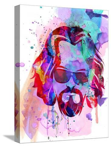Dude Watercolor Stretched Canvas Print