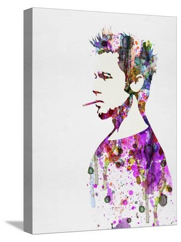 Fight Club Watercolor Stretched Canvas Print