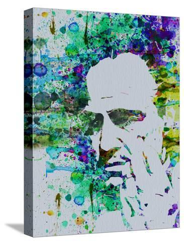 Godfather Watercolor Stretched Canvas Print