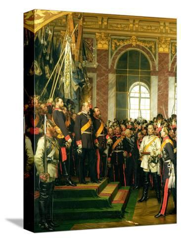 The Proclamation of Wilhelm as Kaiser of the New German Reich, in the Hall of Mirrors at Versailles Reproducción de lámina sobre lienzo