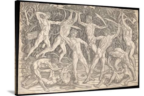 Antonio Pollaiuolo Battle of the Nudes Wall Art Poster Print