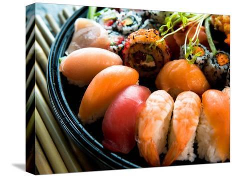 japanese restaurant decor.htm assortment of traditional japanese sushi on platter photographic  traditional japanese sushi on platter