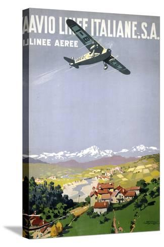 Avio Linee Italiane. S.A. Stretched Canvas Print