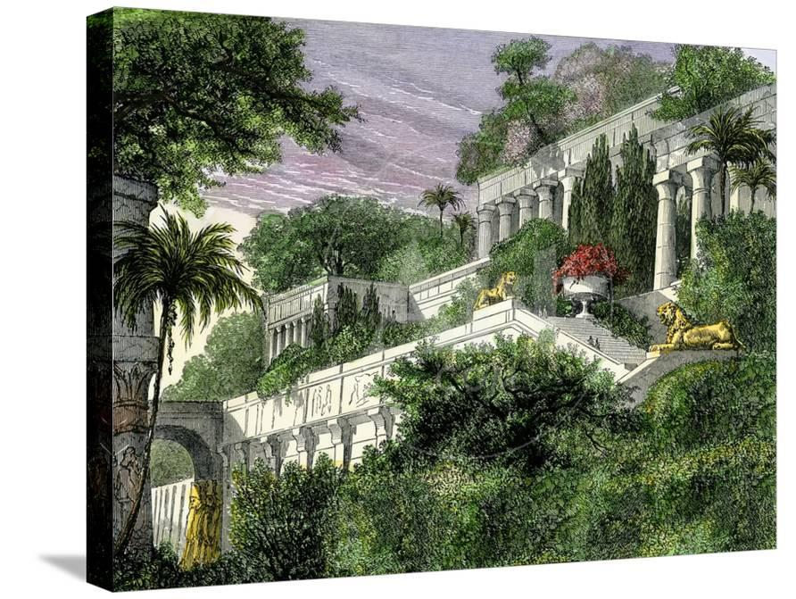 Babylon\'s Hanging Gardens, One of the Seven Wonders of the Ancient ...