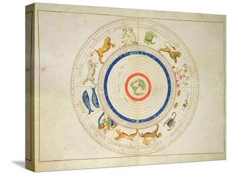 Zodiac Calendar, from an Atlas of the World in 33 Maps, Venice, 1st September 1553 Impressão em tela esticada