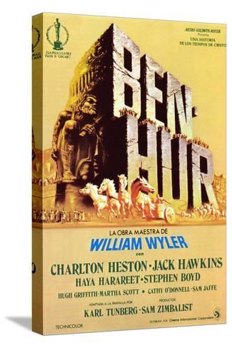 Ben-Hur, Spanish Poster Art, 1959 Stretched Canvas Print