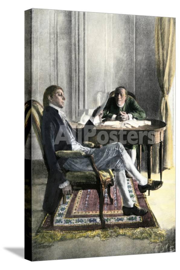 Pleasant Benjamin Franklin And Richard Oswald In Paris Discussing The Peace Treaty Inzonedesignstudio Interior Chair Design Inzonedesignstudiocom