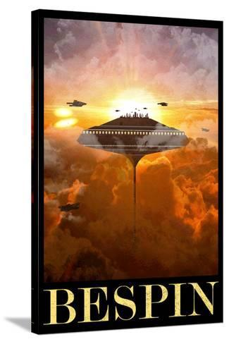 Bespin Retro Travel Poster Stretched Canvas Print