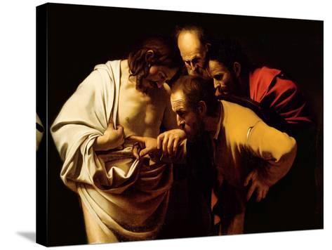 The Incredulity of St. Thomas, 1602-03 Reproducción de lámina sobre lienzo