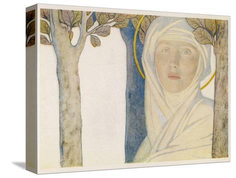 Saint Brigid Irish Slave Who Became a Nun Who Became a Saint Also Known as Bride Bridget Reproducción de lámina sobre lienzo