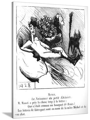 the birth of the little cabinet maker caricature in le charivari CMA SLE Ti the birth of the little cabinet maker caricature in le charivari 1865 giclee print by cham at allposters