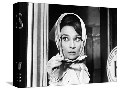 Charade, Audrey Hepburn, Directed by Stanley Donen, 1963 Stretched Canvas Print