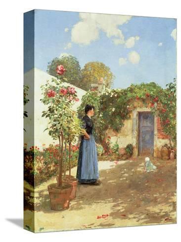 A Sunny Morning, Villiers-Le-Bel, 1888 Reproducción de lámina sobre lienzo