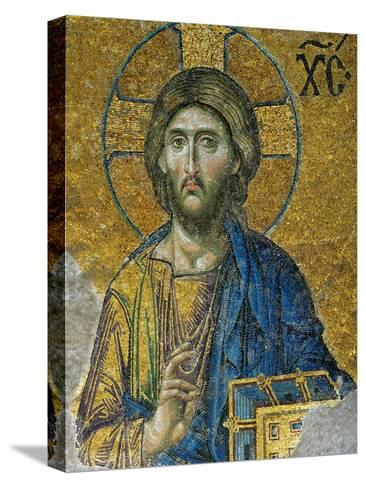Christ, from the Deesis in the North Gallery, Byzantine Mosaic, 12th Century Reproducción de lámina sobre lienzo