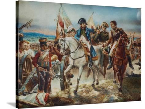 NAPOLEON BATTLE OF FRIEDLAND PAINTING MILITARY HISTORY WAR ART REAL CANVAS PRINT