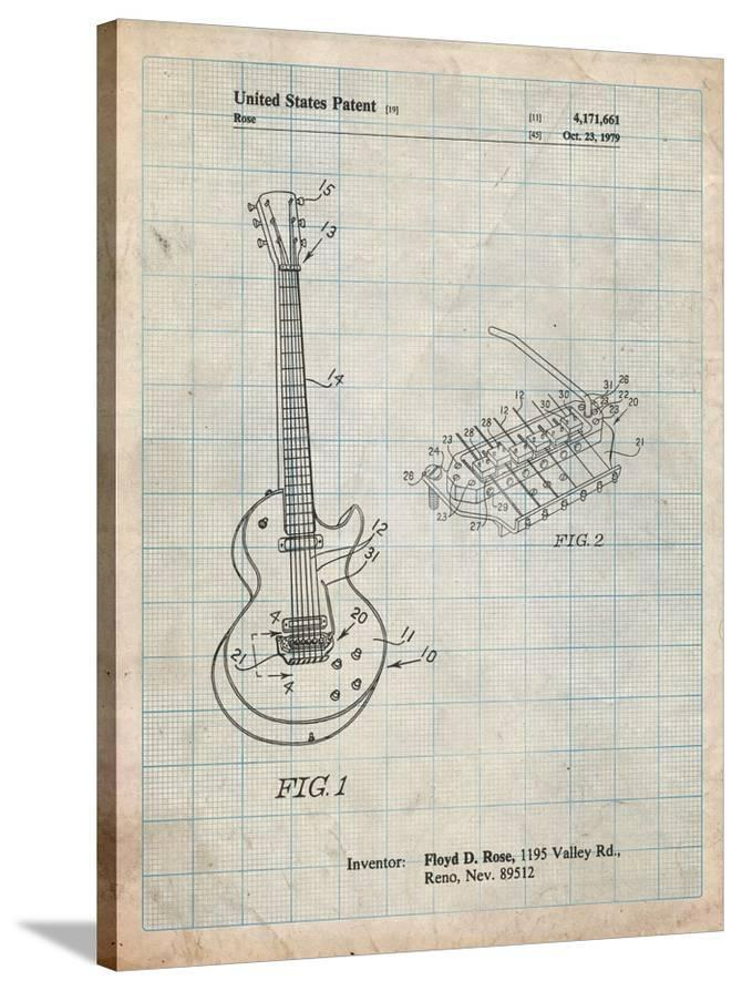 Floyd Rose Guitar Tremolo Patent