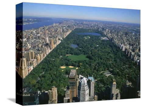 Aerial View of Central Park, NYC Impressão em tela esticada