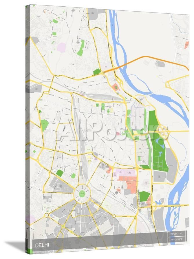 Delhi India Map Photo At Allposters Com
