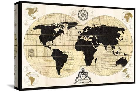 Vintage World Map Stretched Canvas Print