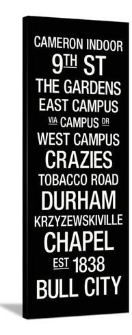 Duke: College Town Wall Art Stretched Canvas Print