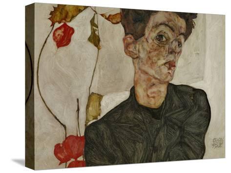 Self-Portrait with Chinese Lantern and Fruits Pingotettu canvasvedos