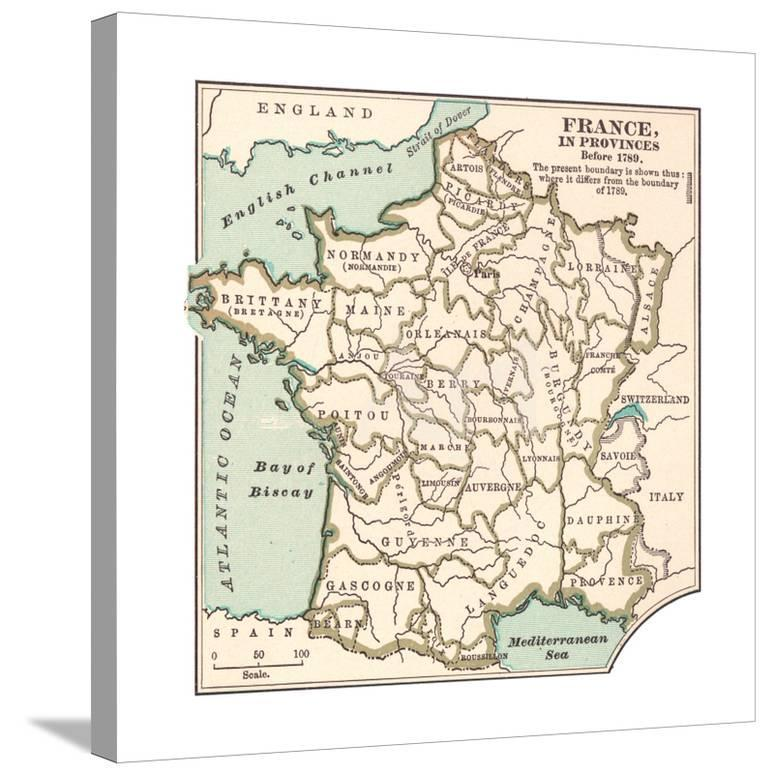 Map Of France Provinces.Inset Map Of France In Provinces Before 1789 Giclee Print By