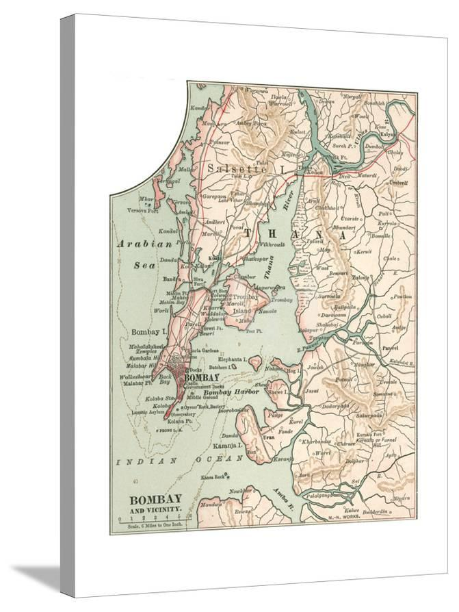 Map 1900.Map Of Bombay C 1900 Maps