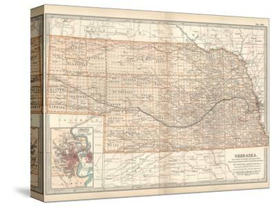 Map of Nebraska. United States. Inset Map of Omaha and Vicinity ...
