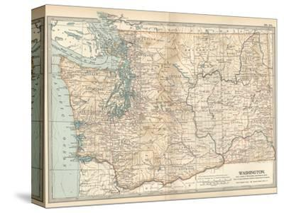 Map of Washington State. United States Giclee Print by Encyclopaedia ...