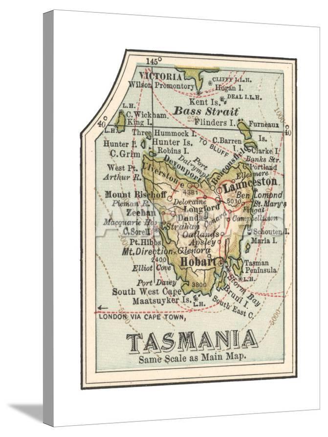Map Australia Tasmania.Plate 50 Inset Map Of Tasmania Australia