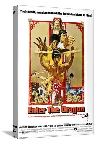Enter the Dragon, 1973 Kunst op gespannen canvas
