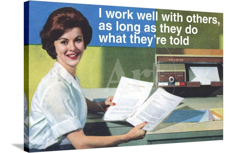 I Work Well With Others Do What They Are Told Funny Poster Photo By