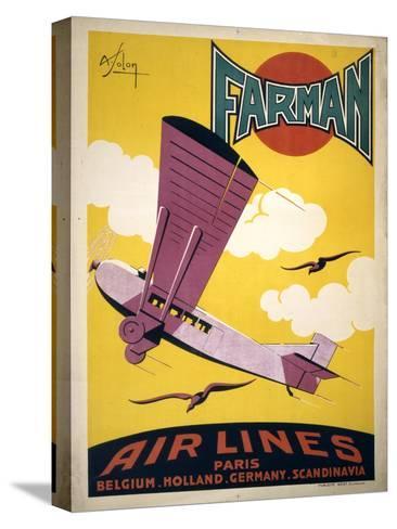Farman Air Lines Stretched Canvas Print