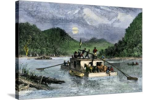 Flatboat Ohio River circa 1788 Poster 13x19 inches