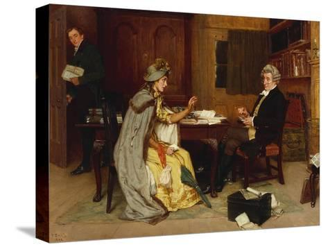Consulting Her Lawyer, 1892 Stretched Canvas Print