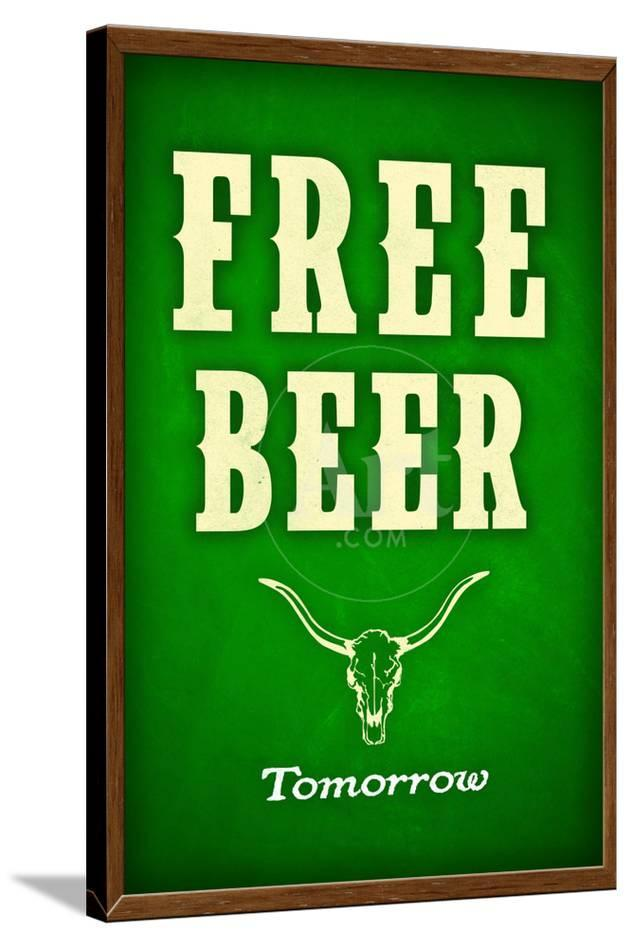 free beer tomorrow college drinking poster posters at allposters com