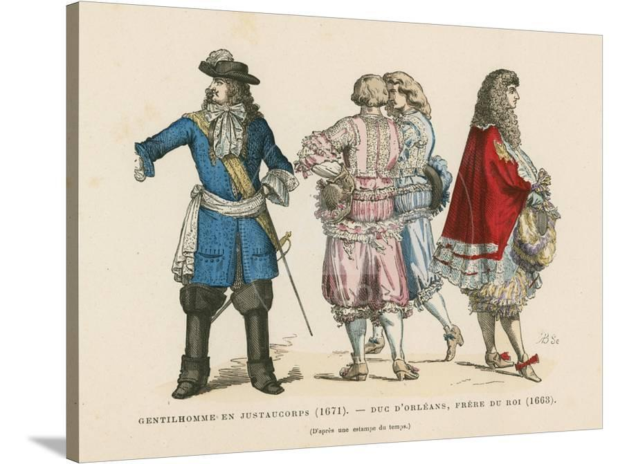 French Men S Costumes 17th Century Giclee Print Allposters Com