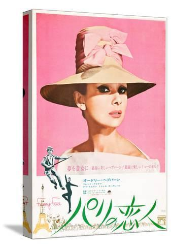 Funny Face, Japanese Poster Art, Audrey Hepburn, Fred Astaire, Audrey Hepburn, 1957 Stretched Canvas Print