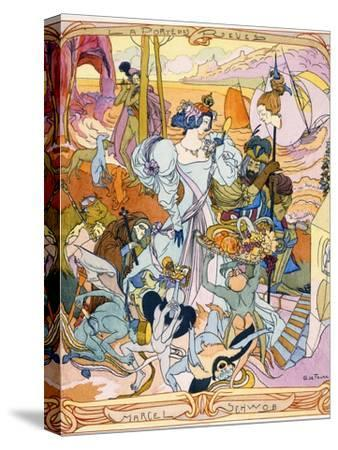 Central Panel Of A Triptych Illustration From The Book La Porte Des
