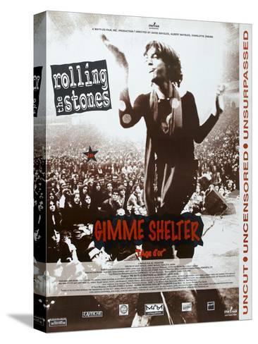 Gimme Shelter, French poster, Mick Jagger, 1970 Sträckt kanvastryck