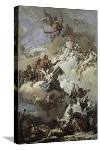 Apotheosis of Aeneas Reproducción de lámina sobre lienzo