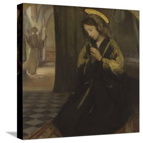Anunciación Reproducción de lámina sobre lienzo