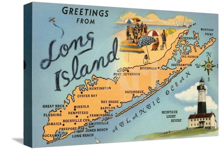 Huntington New York Map.Greetings From Long Island New York Map Posters At Allposters Com