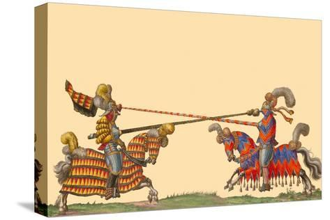 Lances At The Thrust Between Knights Prints Hector Mair Paulus Allposters Com